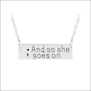 Jewelry - ; And so she goes on Bar Neacklace - silver